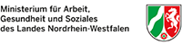 Logo des Ministeriums für Arbeit, Gesundheit und Soziales des Landes Nordrhein-Westfalen