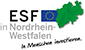 Logo des Europäischen Sozialfonds (ESF) in Nordrhein-Westfalen